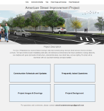 KMJ Designs Website for American Street Improvement Project